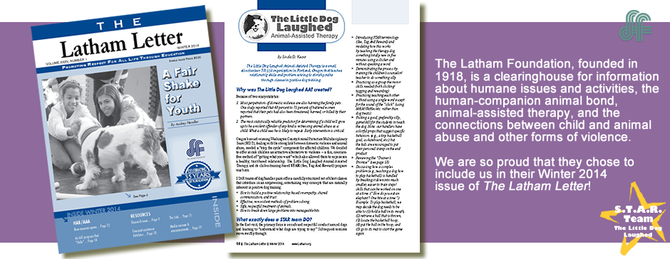 The Winter 2014 Latham Letter contains an article about The Little Dog Laughed AAT!