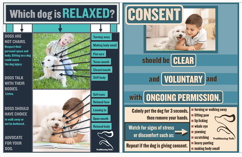 """Sample Pages from the """"Child and Dog Interaction Guide"""""""